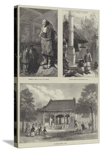 Sketches in China--Stretched Canvas Print