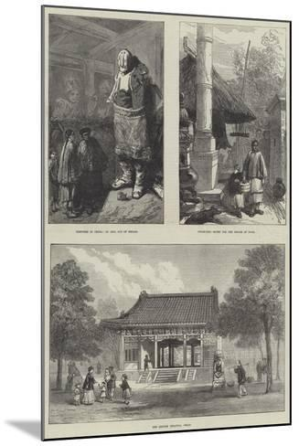 Sketches in China--Mounted Giclee Print