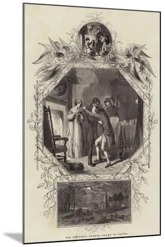The Christmas Hearth--Mounted Giclee Print