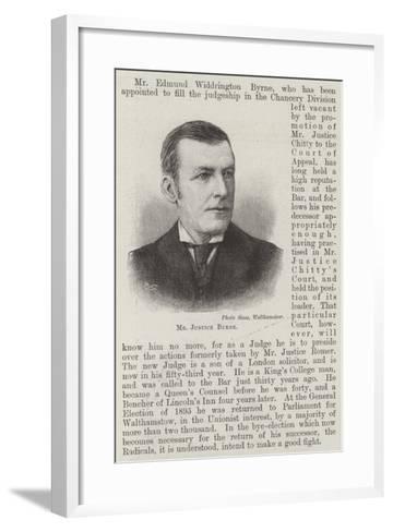 Mr Justice Byrne--Framed Art Print