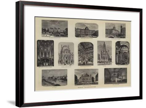 Paris Illustrated--Framed Art Print