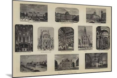 Paris Illustrated--Mounted Giclee Print