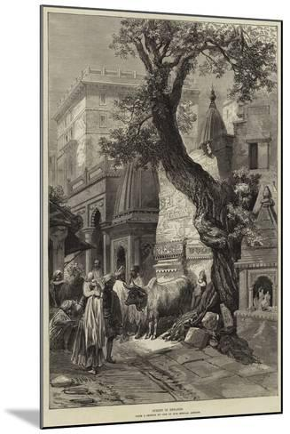 Street in Benares--Mounted Giclee Print