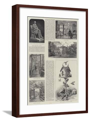 The Late Mr Darwin--Framed Art Print