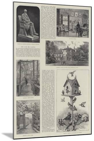The Late Mr Darwin--Mounted Giclee Print