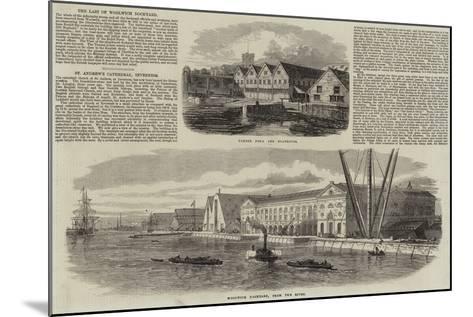 Woolwich Dockyard--Mounted Giclee Print