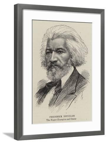 Frederick Douglass--Framed Art Print