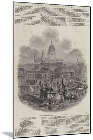 Lord Mayor's Show--Mounted Giclee Print