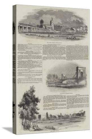 The Thames Regatta--Stretched Canvas Print