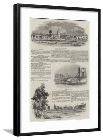 The Thames Regatta--Framed Art Print