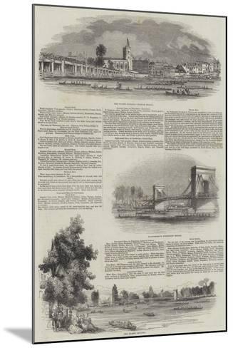 The Thames Regatta--Mounted Giclee Print