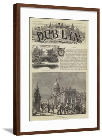 Dublin Illustrated--Framed Art Print