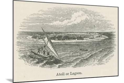 Atoll or Lagoon--Mounted Giclee Print