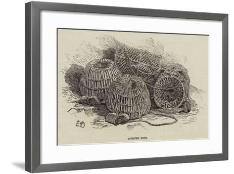 Lobster Pots--Framed Art Print
