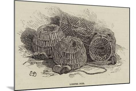 Lobster Pots--Mounted Giclee Print