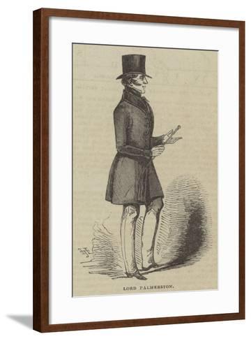 Lord Palmerston--Framed Art Print