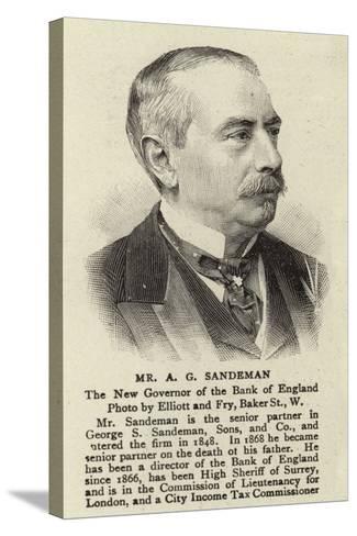 Mr a G Sandeman--Stretched Canvas Print