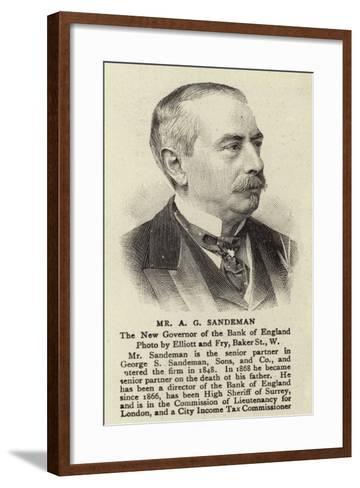 Mr a G Sandeman--Framed Art Print