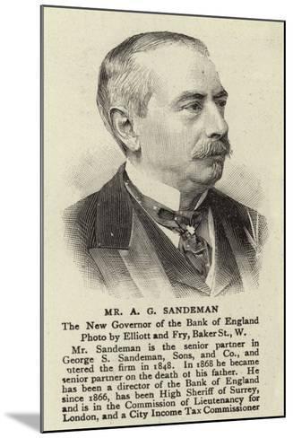 Mr a G Sandeman--Mounted Giclee Print