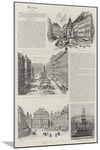Vienna--Mounted Giclee Print