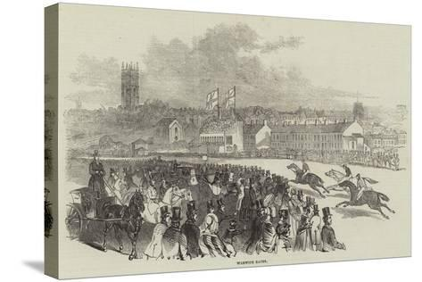 Warwick Races--Stretched Canvas Print