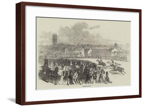 Warwick Races--Framed Art Print
