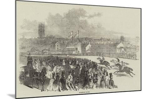 Warwick Races--Mounted Giclee Print