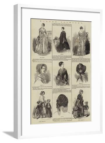 Winter Fashions--Framed Art Print