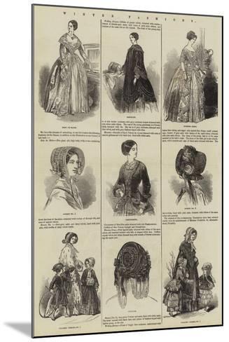 Winter Fashions--Mounted Giclee Print