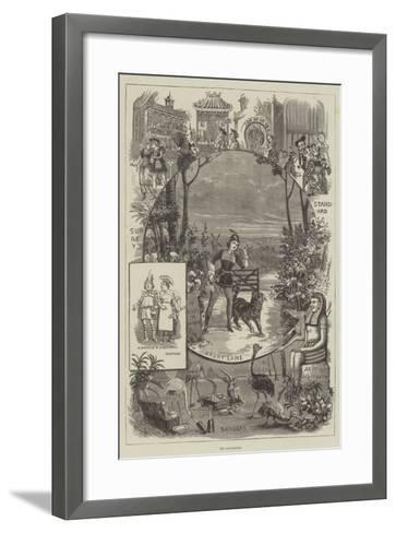 The Pantomimes--Framed Art Print
