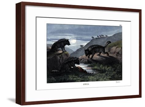 Hyena, 1860--Framed Art Print