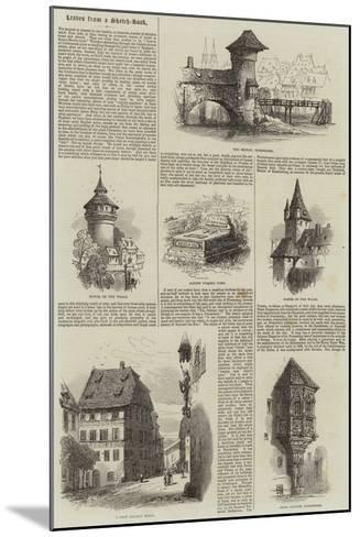 Nuremberg--Mounted Giclee Print