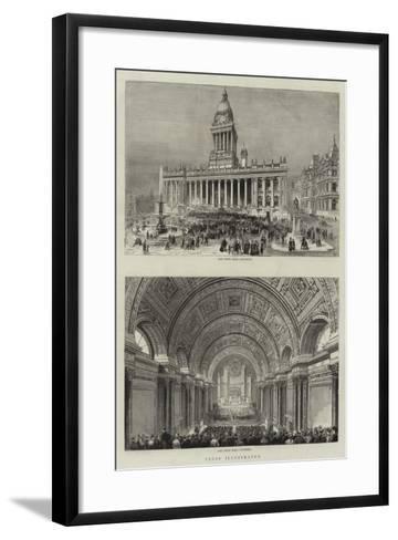 Leeds--Framed Art Print