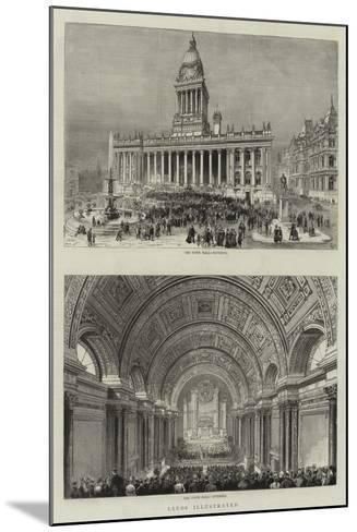 Leeds--Mounted Giclee Print