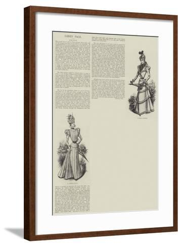 Ladies' Page--Framed Art Print