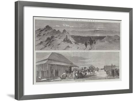 The Suez Canal--Framed Art Print