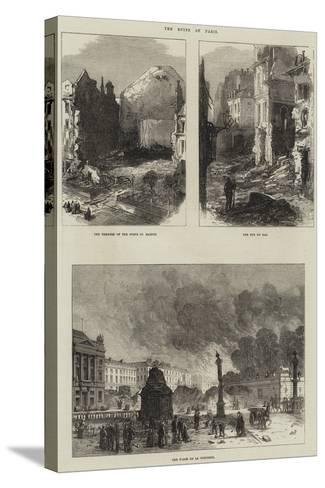 Paris Commune--Stretched Canvas Print
