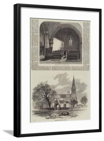 Knowsley Church--Framed Art Print
