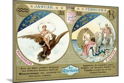 January and February: Aquarius and Pisces--Mounted Giclee Print