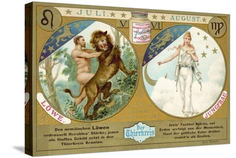 July and August: Leo and Virgo--Stretched Canvas Print