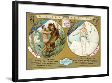 July and August: Leo and Virgo--Framed Art Print