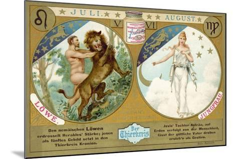 July and August: Leo and Virgo--Mounted Giclee Print