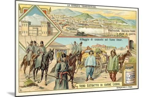 Scenes on the Trans-Siberian Railway--Mounted Giclee Print
