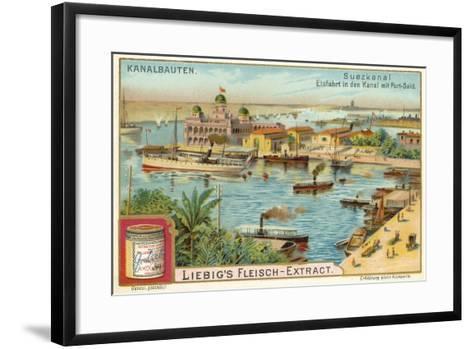 Entrance to the Suez Canal, Port Said, Egypt--Framed Art Print