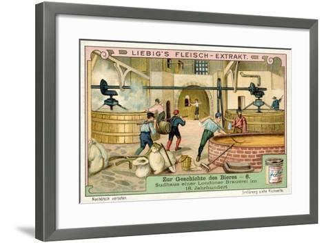 Brewhouse of a London Brewery, 18th Century--Framed Art Print