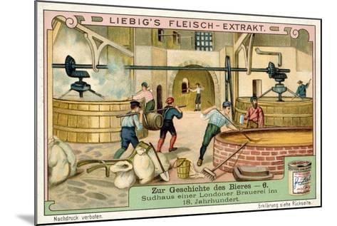 Brewhouse of a London Brewery, 18th Century--Mounted Giclee Print