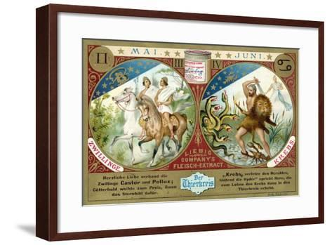 May and June: Gemini and Cancer--Framed Art Print