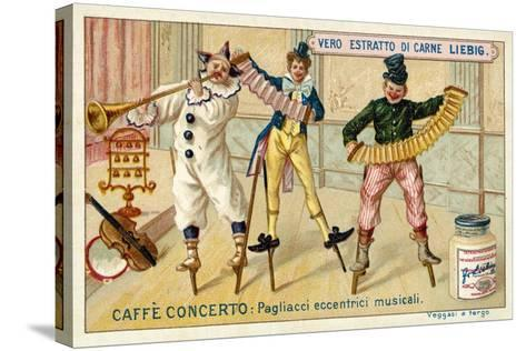 Caffe-Concerto: Eccentric Musical Clowns--Stretched Canvas Print
