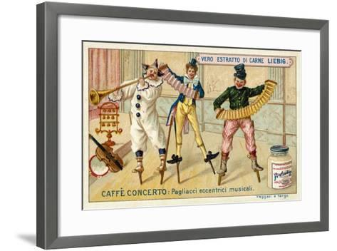 Caffe-Concerto: Eccentric Musical Clowns--Framed Art Print