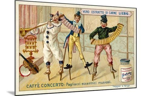 Caffe-Concerto: Eccentric Musical Clowns--Mounted Giclee Print